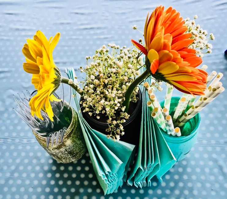 DIY Mason Jar Centerpieces For Your Baby Shower