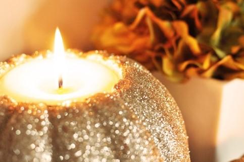 DIY Pumpkin Candle Holders for BHG