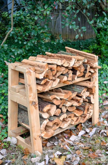 DIY firewood rack outdoor