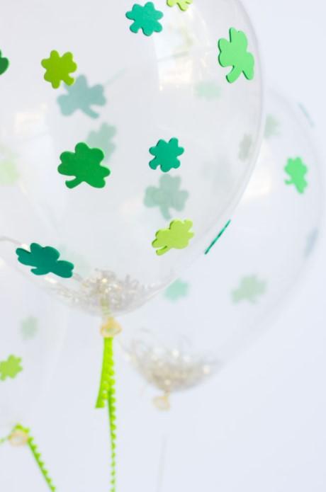 DIY St. Patricks Day Shamrock Balloons