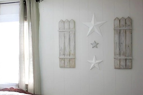 DIY Wall Art Solution Shutters and Stars