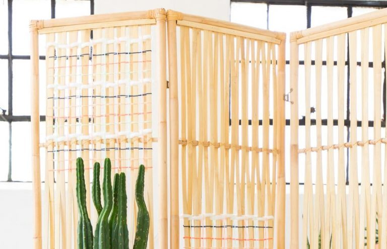 DIY Woven Room Divider 1