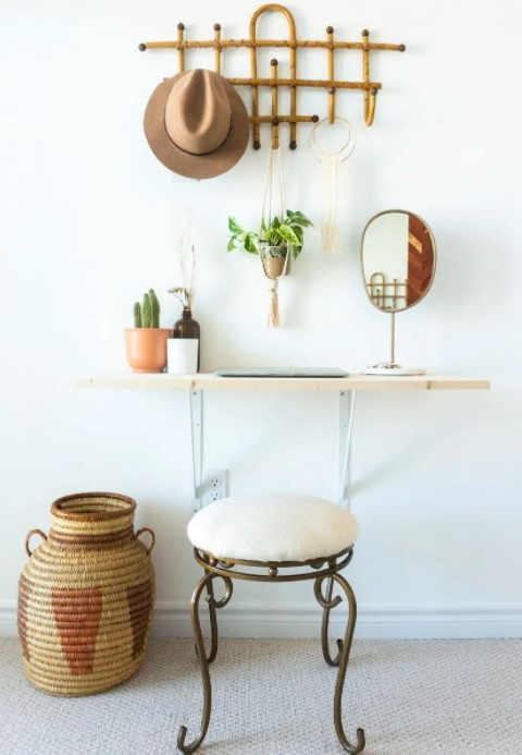 Easy Affordable DIY Vanity Desk