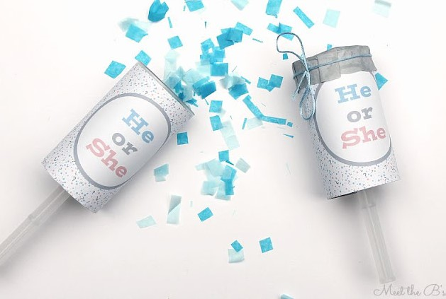 Easy DIY Gender Reveal Confetti Poppers