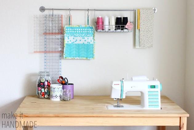 Easy DIY IKEA Sewing Table Hack