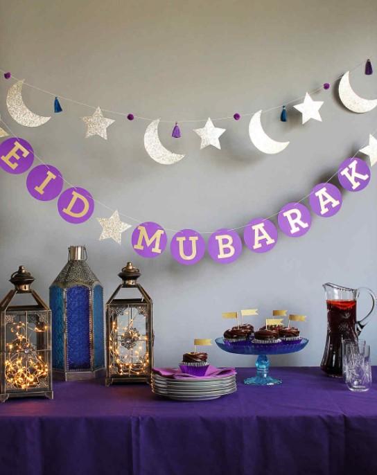Eid Mubarak Circle Garland