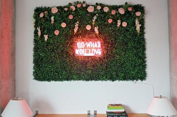 Faux Boxwood Wall Art