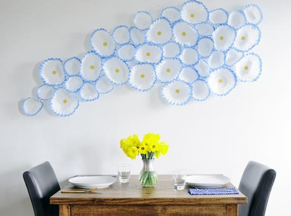 Floral Wall Art With Coffee Filters