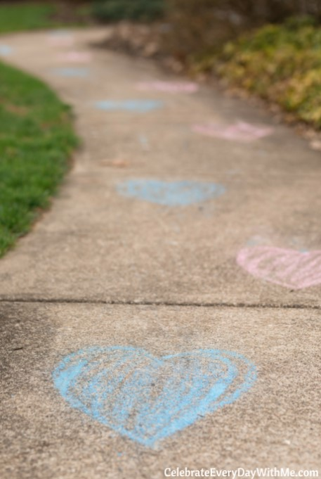 Gender Reveal Ice Cream Party footsteps