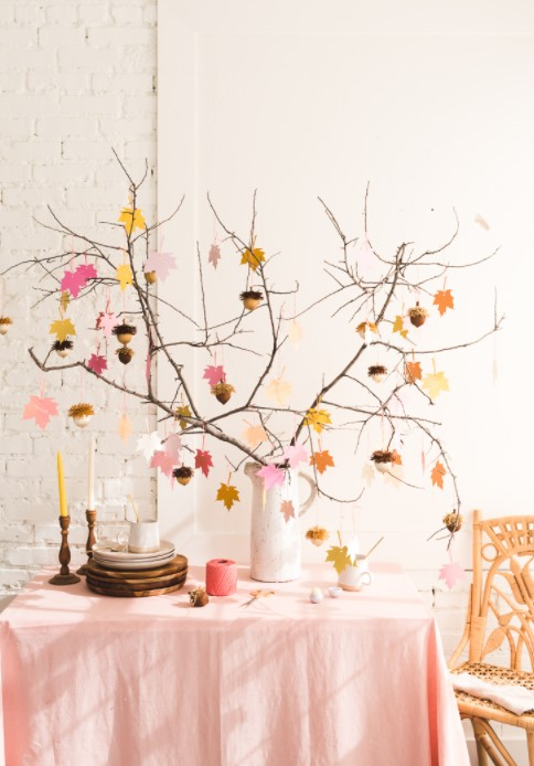 Gratitude Tree with Acorn Favors