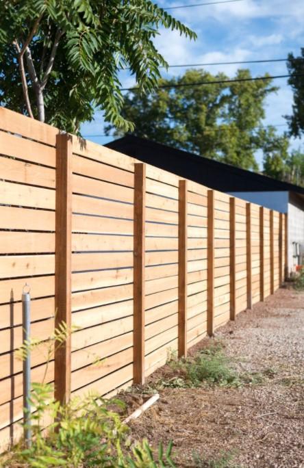 Horizontal Slatted Fence