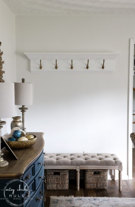 How To Build A DIY Coat Rack wall mounted