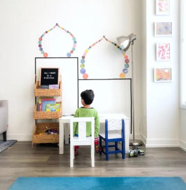 Kids islamic decor – DIY washi tape masjid