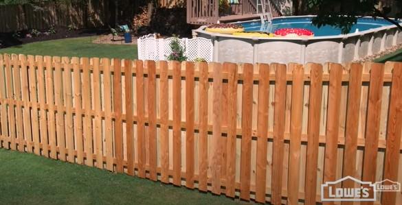 Lowes Wood Fence