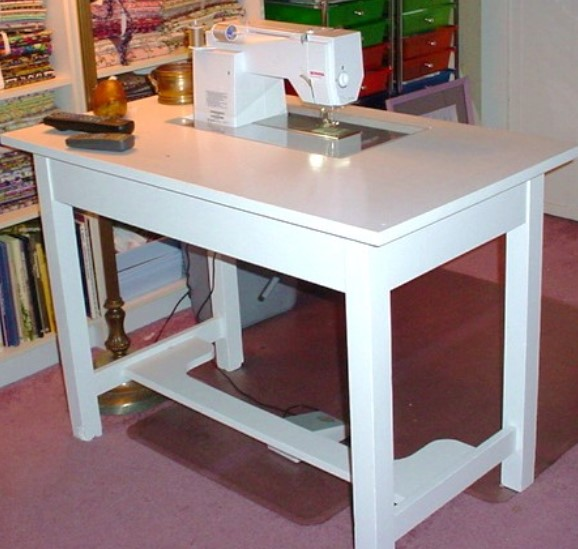 Make your own Sewing Machine Cabinet Table