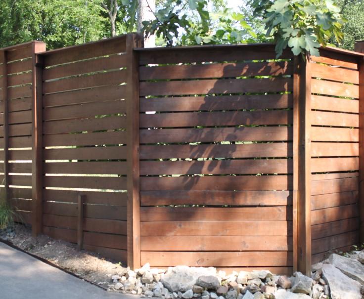 Modern Horizontal Fence