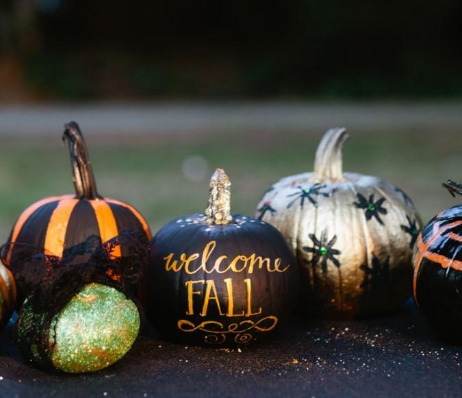 No Carve Pumpkin Decorating Party
