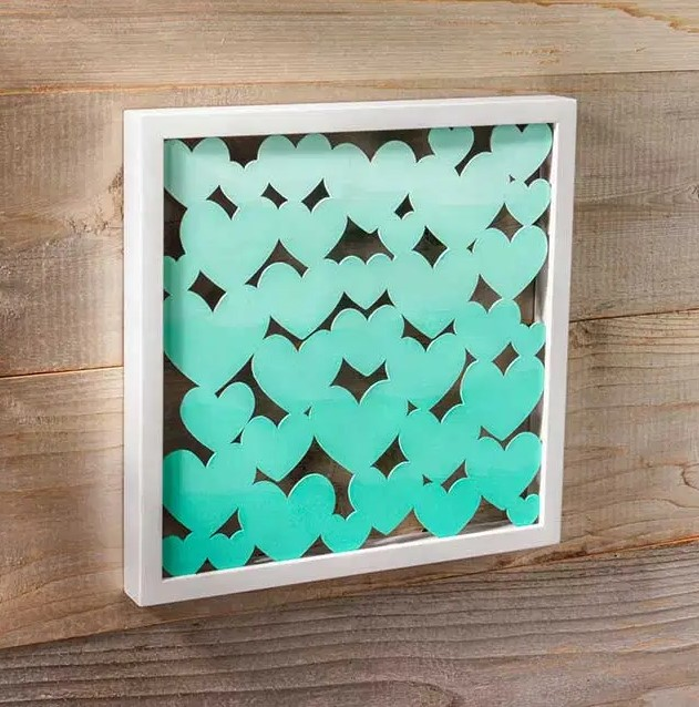 Ombre Heart DIY Shadow