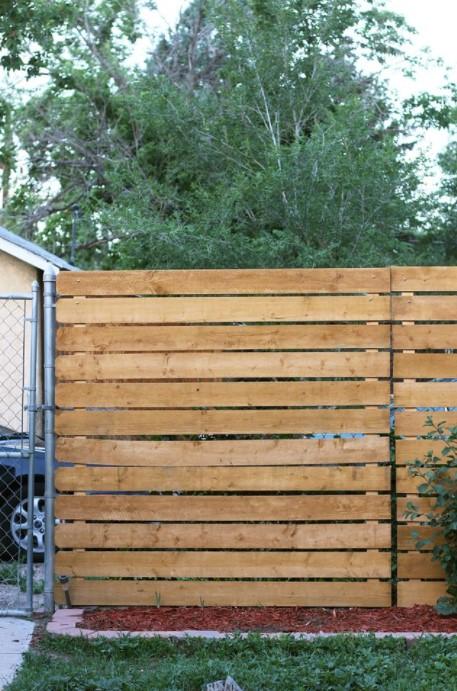 Our Privacy Fence Solution Cedar Panel DIY