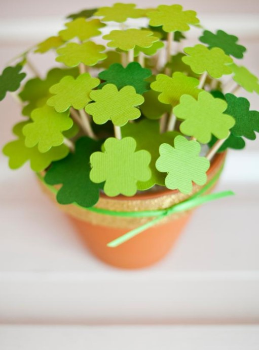 Potted Paper Clovers