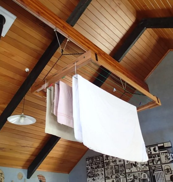 Pulley controlled Clothes Drying Rack