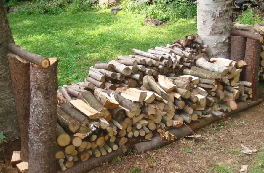 Rustic Firewood Rack 1