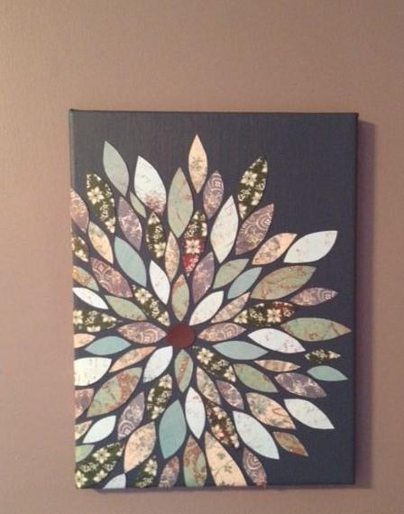 Scrapbook Flower Wall Art