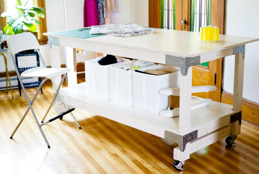 Sewing Cutting Table DIY for Your Craft or Sewing Studio