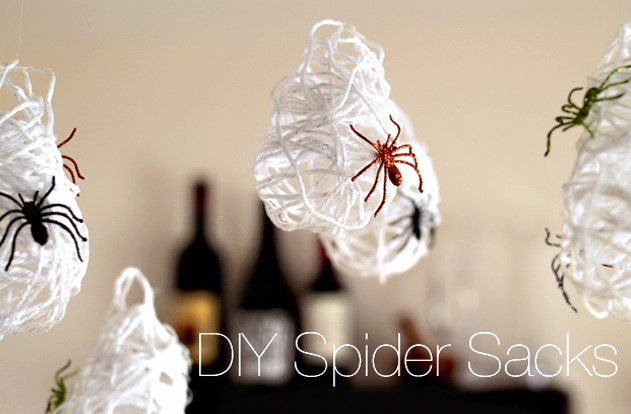 Spider Sack Decor with the Kids