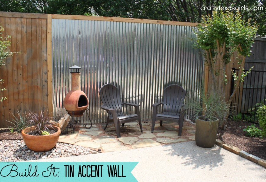 Tin Accent Wall