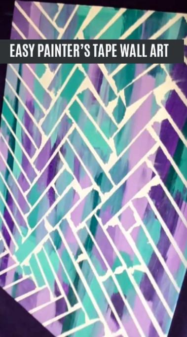 Unbelievably Easy Painters Tape Wall Art