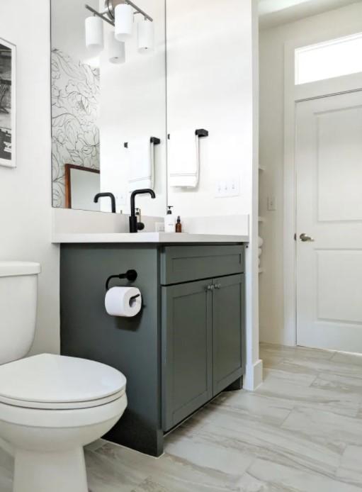 Under 50 Bathroom Vanity Update