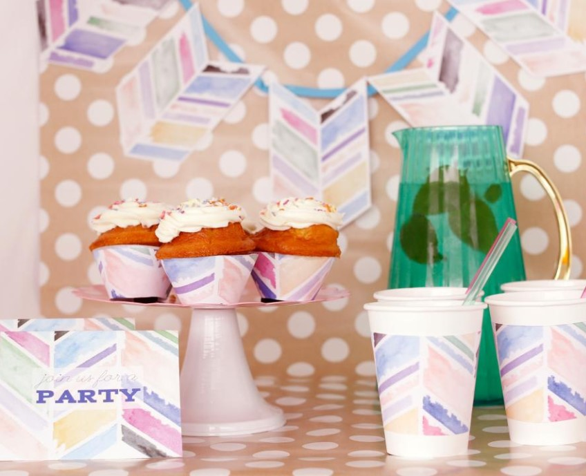 Watercolor Party Decorations