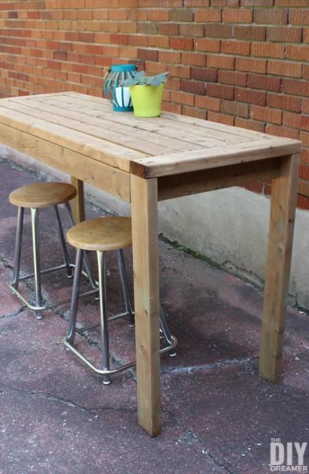 a 2×4 Outdoor Bar Table
