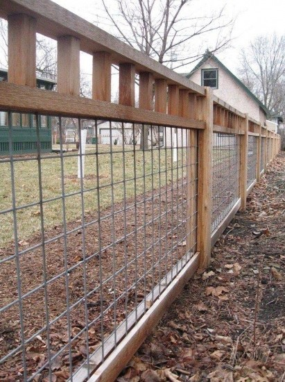 a Cattle Panel Fence aka Cattle Fence