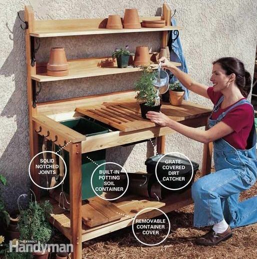 a Cedar Potting Bench
