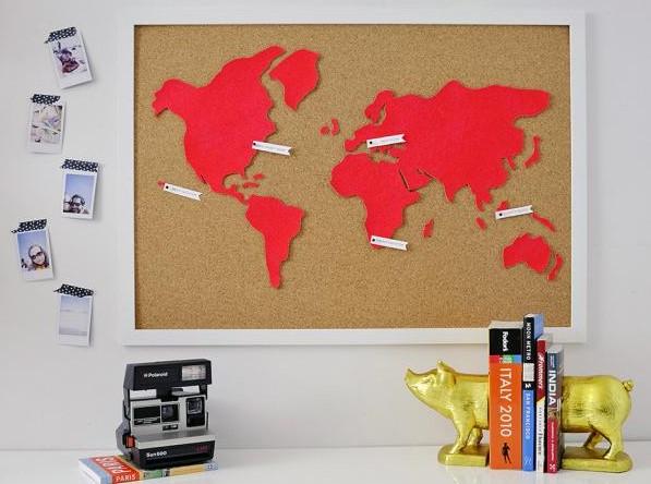 a Custom Corkboard World Map