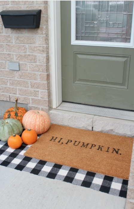 a DIY Fall Doormat for 15 with Stencils