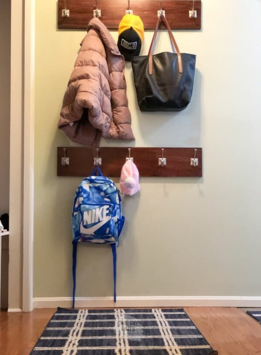 a Double Wall Mounted DIY Coat Rack Detailed Step by Step Tutorial