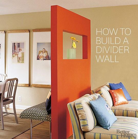 a Freestanding Divider Wall