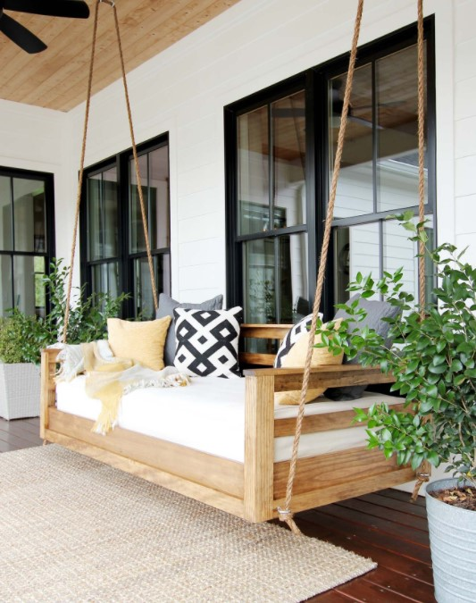 Swing chair for patio furniture
