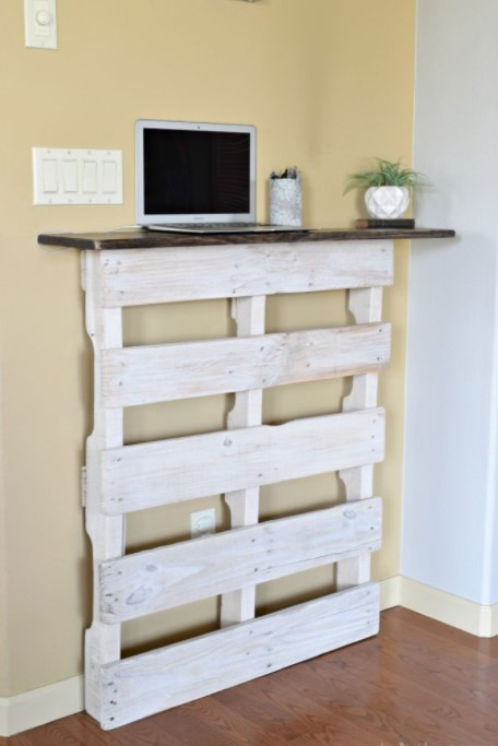 a Stylish Standing Desk Riser from pallet