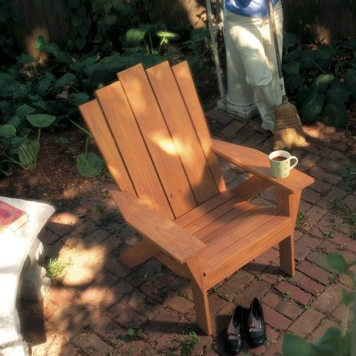 an Adirondack Chair and Love Seat