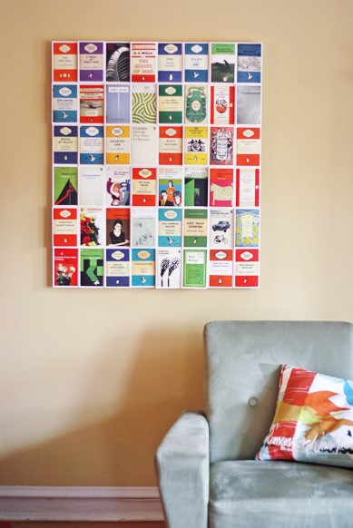 diy postcard wall art