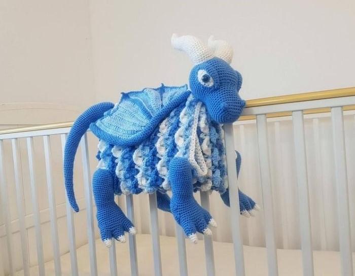 3in1 Ice Dragon Baby Blanket Crochet Pattern