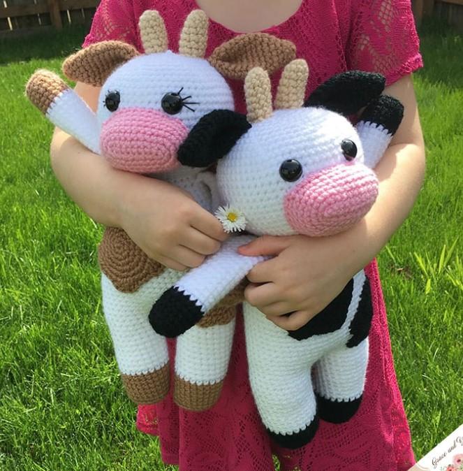 Amigurumi Cow A Free Crochet Pattern