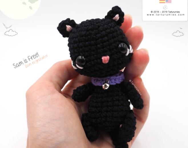 Amigurumi Pattern Sam – Halloween Black Cat