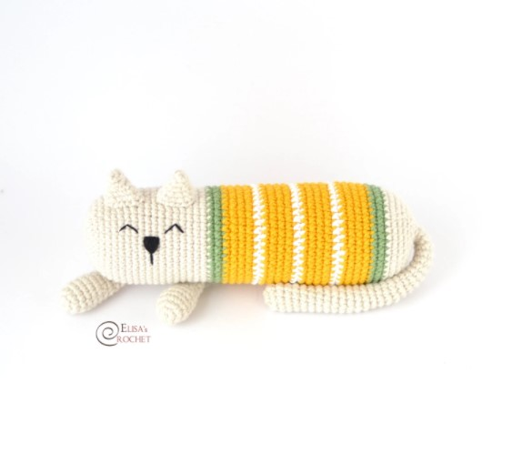Arturo the Sleepy Cat Free Crochet Pattern