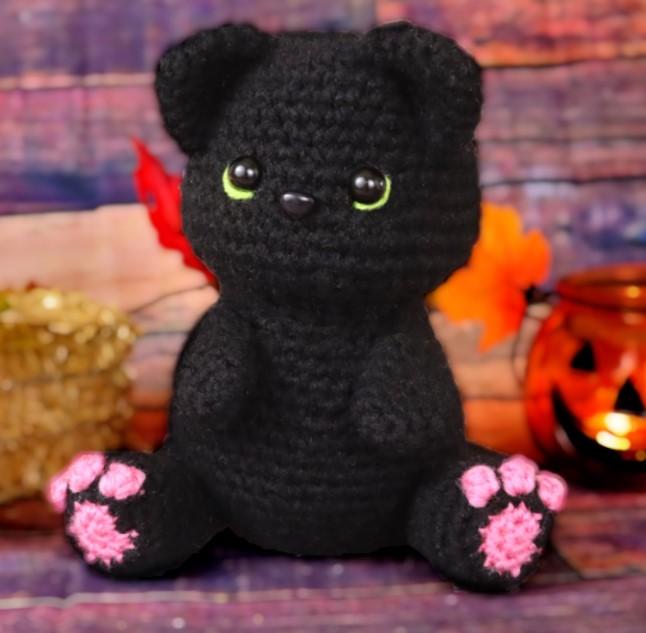 Black Cat Amigurumi Free Crochet Pattern