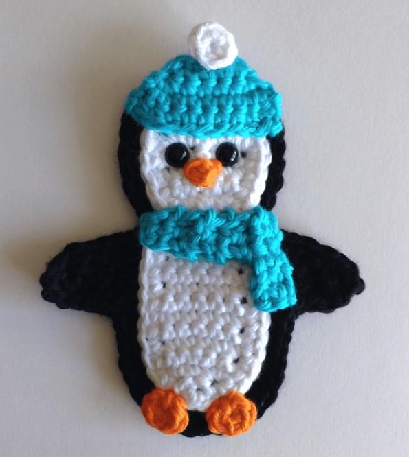 Crochet Applique – Penguin